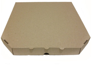 Коробка для пиццы 350Х350Х35  мм. (бурая), фото 2