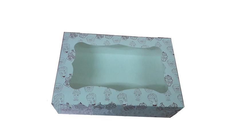Коробка для капкейков, кексов и маффинов 1 шт 330х255х110 (с принтом)