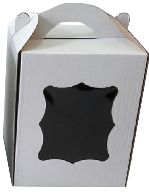Коробка для пасхи-кексов 170*170*210 мм. белая