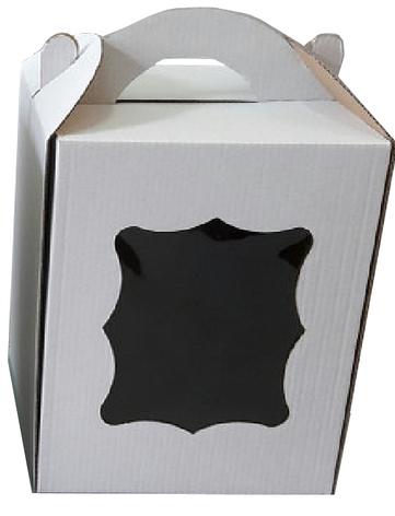 Коробка для пасхи-кексов 170*170*210 мм. белая, фото 2