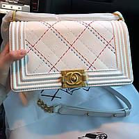 Женская сумка в стиле Сhаnеl (в стиле Шaнель) реплика, белый цвет