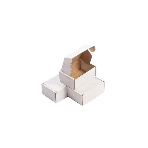 Картонная упаковка 90х65х40  мм. белая, фото 2