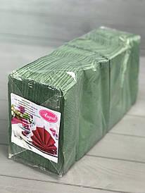 Салфетки двухслойные зелёные