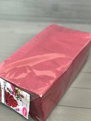 Салфетки двухслойные бордо, фото 2