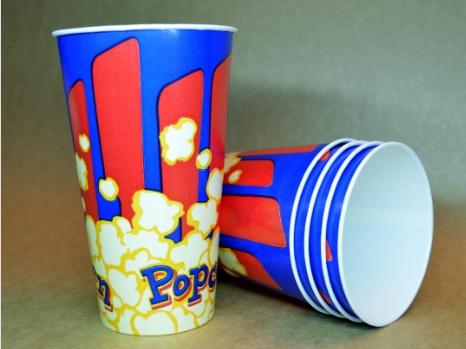 "Картонный стакан 0,8 л ""Попкорн синий"", фото 2"