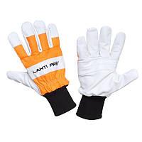 Перчатки рабочие,защита от порезов цепной пилой,LahtiPro 2902