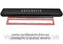 Защита порогов - накладки на пороги Mitsubishi PAJERO SPORT II с 2011 г. (Carbon)