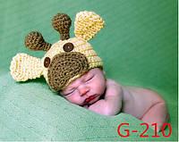 Шапочка для фотосессии Оленёнок 0-24м Китай 9987
