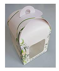 Коробка для пасхи-кексов 120*120*150 мм. с принтом, фото 3