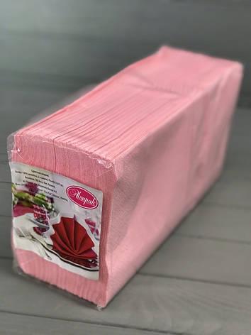Салфетки двухслойные розовые, фото 2
