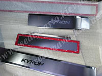 Накладки на пороги Ssang Yong KYRON с 2007 г. (Premium)