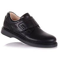 Школьные туфли из натуральной кожи на липучке для мальчиков Tutubi 11.5.96 (31-40)