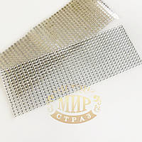 Самоклеящиеся акриловые стразы 5 мм, цвет Silver, 646 шт
