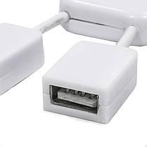 ➨Разветвитель Lesko 4 USB Белый юсб хаб человечек 4 порта usb 2.0 для пк ноутбука компьютера портативный, фото 3