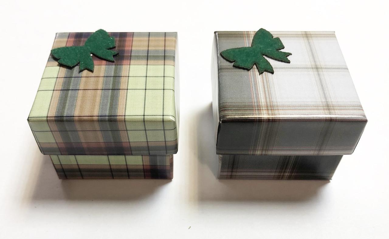 Коробочка для ювелирных изделий(Шотланка)