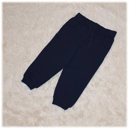 Штаны спортивные на мальчика синего цвета Турция размер 80 86 , фото 2