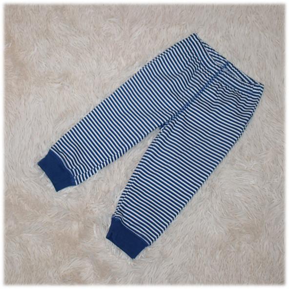 Штаны спортивные на мальчика синего цвета в полоску ТМ Бемби (Украина) размер 68 74