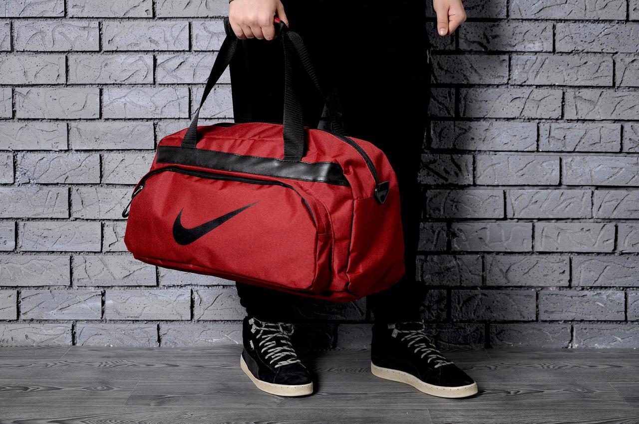 08b890d2 Спортивная сумка Nike стильная модная вместительная, цвет красный (логотип  черный) - Магазин zakazal
