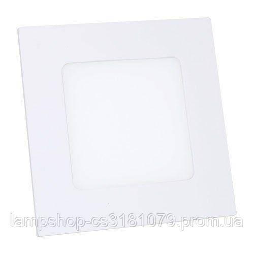 Светильник светодиодный OEM PL-S6 W 6Вт квадратный белый