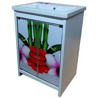 Тумба пластиковая МИКОЛА-М SPA с умывальником CERSANIT COMO 50см цветная 4607057963188
