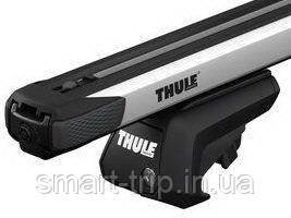 Багажник для авто c рейлингами Thule Evo SlideBar серебристый 7104-89X