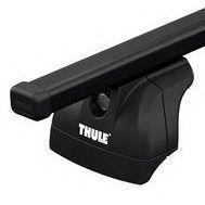 Багажник для авто c интегрированными рейлингами Thule Evo SquareBar черный 753-712XX-KIT