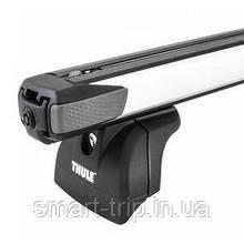 Багажник для авто c интегрированными рейлингами Thule SlideBar серебристый 753-89X-KIT