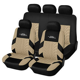 Авточехлы универсальные. Авто чехлы на сидения автомобильные. Накидки для автосидения ROAD Master Бежевые