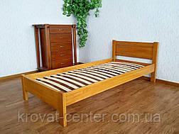 """Односпальная деревянная кровать с изножьем """"Эконом"""" от производителя, фото 2"""