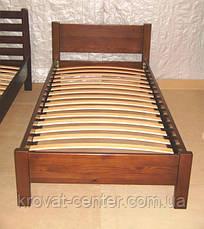 """Односпальная деревянная кровать с изножьем """"Эконом"""" от производителя, фото 3"""