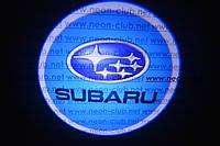 Подсветка дверей авто / лазерная проeкция логотипа Subaru | Субару