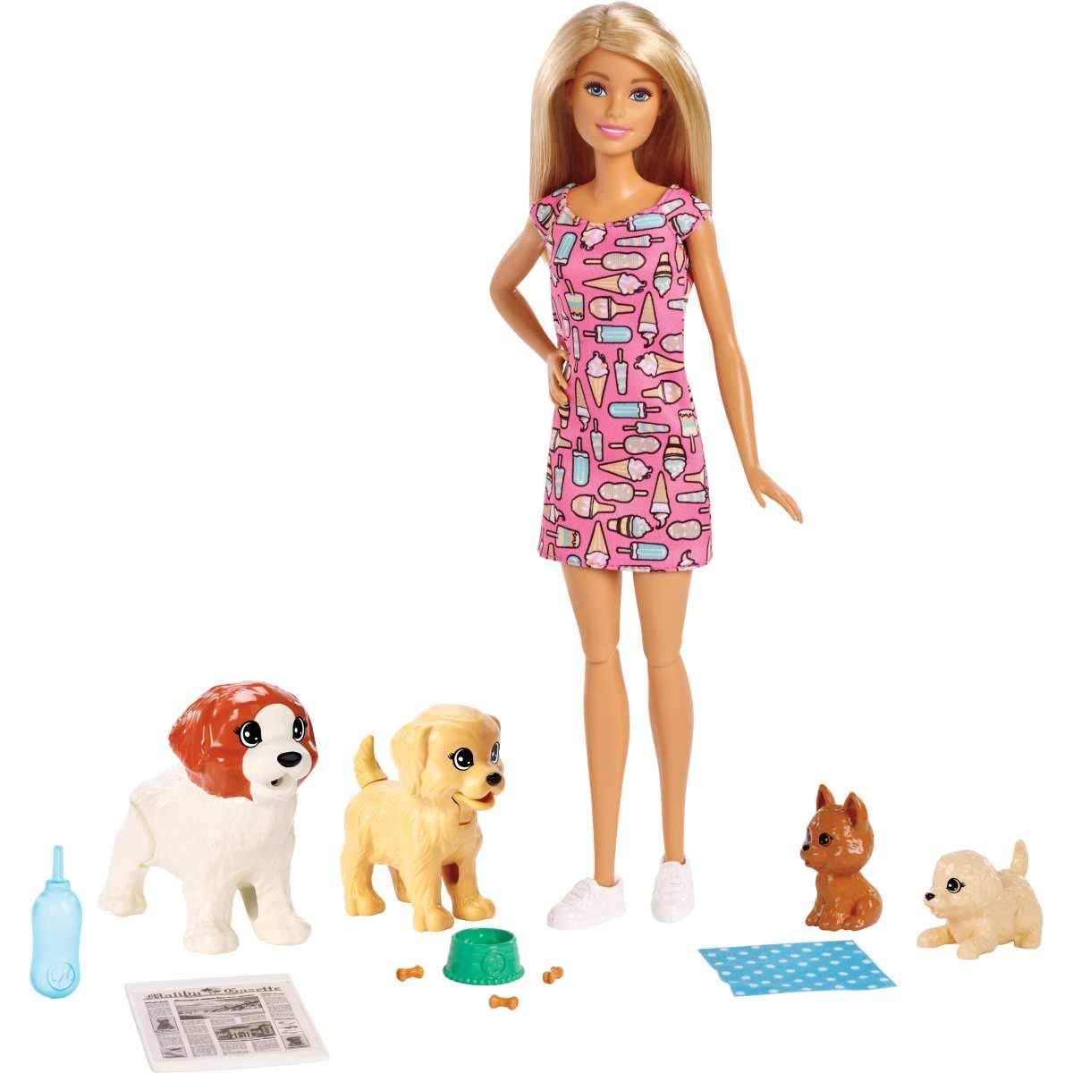 Барби Уход за щенками Детский сад Barbie Doggy Daycare Doll & Pets