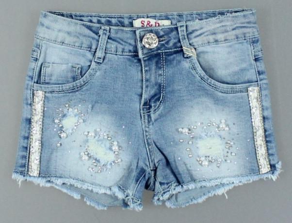 {есть:8 лет} Джинсовые шорты для девочек S&D, 8-18 лет. [8 лет]
