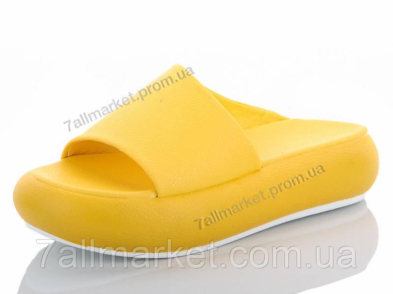 38554524d Шлепки женские облегченные Лето Сабо yellow (6 пар р.36-39)