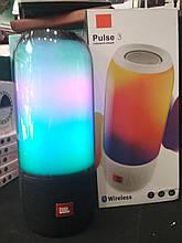 Портативная беспроводная Bluetooth колонка с подсветкой JBL PULSE 3 copy, синяя