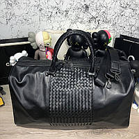 Bottega Veneta Large Duffel Bag In Nero Intrecciato/Tuft VN, фото 1