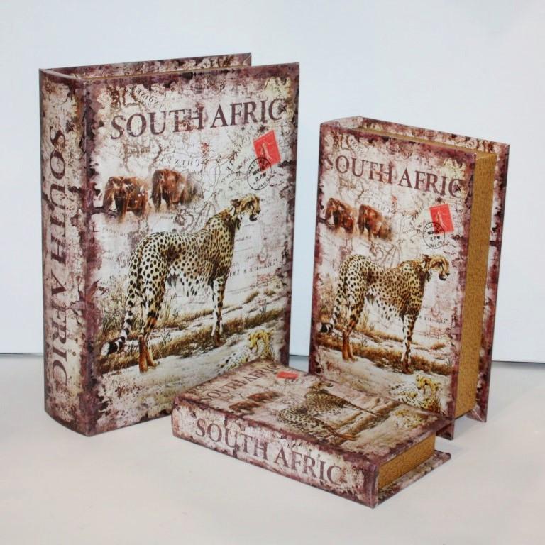 """Набор книг-шкатулок """"South Afric"""" 3шт"""