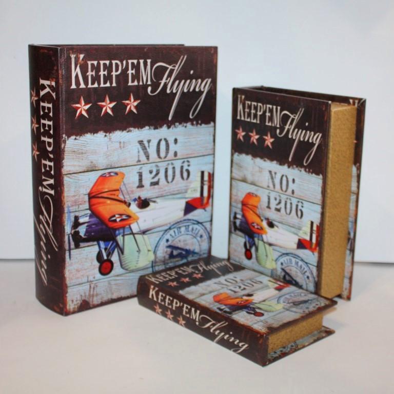 "Набор книг-шкатулок ""Keep'Em Flying"" 3шт"
