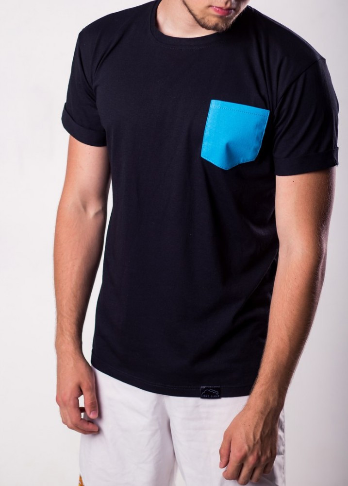 Light cloud T-shirt blue pocket