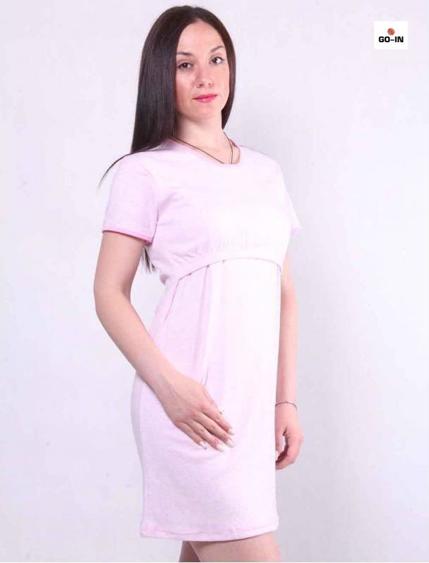 Жіноча нічна сорочка інтерлок для годуючих мам р. 42-56