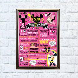 Постер достижений Минни Маус