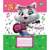 Зошит 12арк. лін. YES 44 Cats №763443(25)(250), фото 1