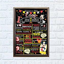 Постер достижений Микки Маус