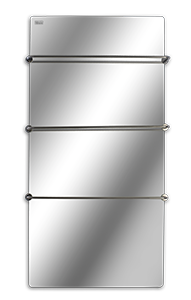 Конструкция стеклокерамического полотенцесушителя Hglass GHT 6012 Premium
