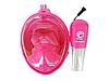 Дитяча маска для плавання Free Breath original, панорамна, підводний, для снорклінга. Розмір XS., фото 8