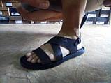 Стильные тёмно-коричневые кожаные сандалии Rondo, фото 3