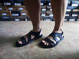 Стильные тёмно-коричневые кожаные сандалии Rondo, фото 6
