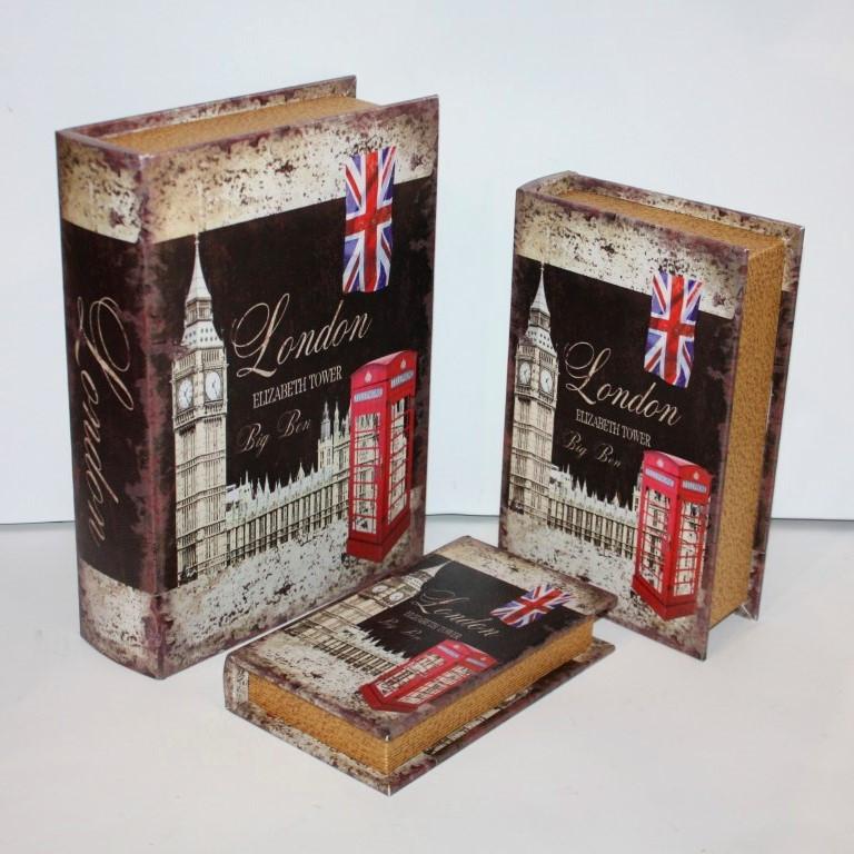 "Набор книг-шкатулок ""London"" 3шт"