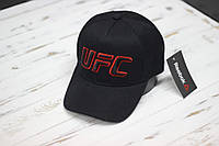 Кепка бейсболка Reebok UFC надпись с переди черная с красным, фото 1