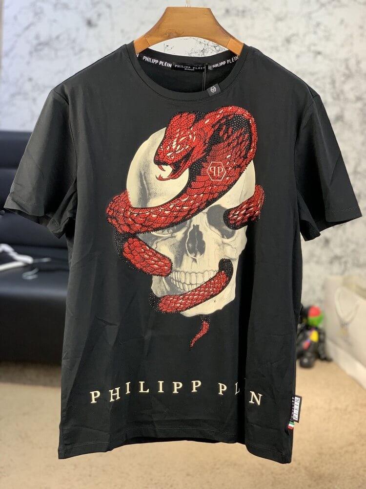 T-Shirt Philipp Plein Skull and Snake Black